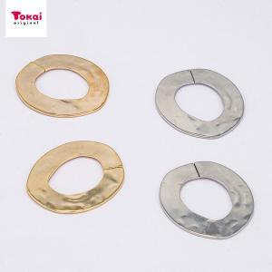 ツールフリーメタル 槌目フープ 約27×24mm 2ヶ | メタル パーツ アクセサリー ツールフリー 槌目フープ 槌目 27×24mm 手芸|shugale1