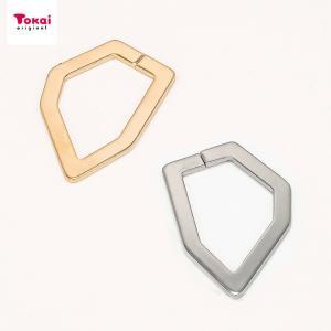 ツールフリーメタル 変形 六角フープ 約28×20mm 1ヶ | メタル パーツ アクセサリー ツールフリー 六角フープ 六角 28×20mm 手芸|shugale1