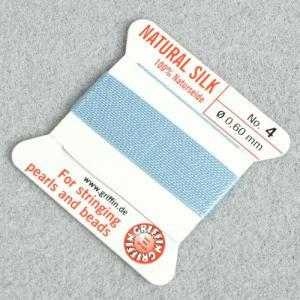 ビーズ 糸・コード 絹紐・シルクビーズコード グリフィンビーズコード ターコイズ|shugale1
