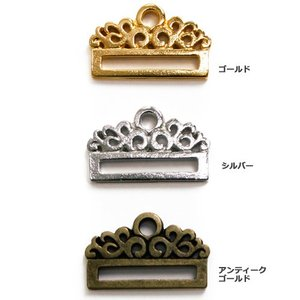 ビーズ パーツ・チャーム ステッチ金具 クラシカル 約20.8mm G・S・AG|shugale1