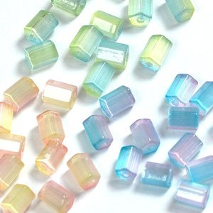 ヴィトライユビーズ ガラス (乳白) 6×5mm 12個|ビーズ|アクリルビーズ|ラウンド|ヴィトライユ|パーツ||shugale1