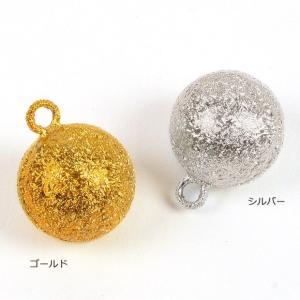 ビーズ 鈴 水琴鈴 丸型 ゴールド/シルバー(ちぢみ)|魔除け|厄除け|御守り