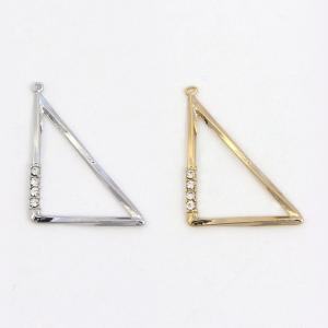 ビーズ 石付きメタルパーツ 左右有三角パーツ 28mm シルバー・ゴールド|ビーズ|パーツ|メタル|カン付き|石付き|ピアス|イヤリング||shugale1