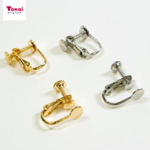 イヤリング金具 貼付ネジバネ 1ペア | ビーズ イヤリング アクセサリー金具 日本製 トーカイ|shugale1