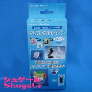 粘土 用具 型取り・注型材料 クリスタルレジン 75gセット|shugale1
