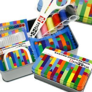 裁縫セット サクラクーピーペンシル ソーイングセット SCS-002 6点セット|小学生 女子 男子 男女兼用 コンパクト 缶ケース|shugale1