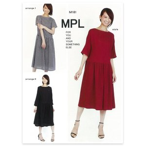 mパターン研究所 ウエストギャザードレス M181|生地 型紙 パターン 洋裁|期間限定SALE||shugale1