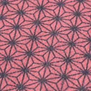 カットクロス 麻の葉模様 ちりめん友仙幅 70×48cm ピンク|生地 布 布地  はぎれ カット布 カットクロス 話題の和柄 ちりめん つまみ細工|shugale1