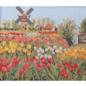 刺繍 キット オリムパス 尾上雅野 フレーム風景 オランダの休日 shugale1