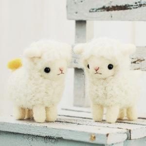 クラフト フェルト羊毛キット ハマナカ なかよしひつじ|shugale1