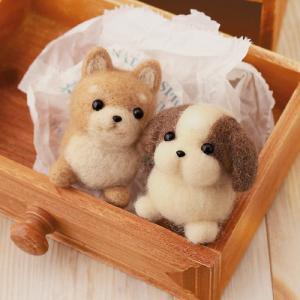 クラフト フェルト手芸 フェルト羊毛キット ハマナカ しば犬&シーズー|shugale1