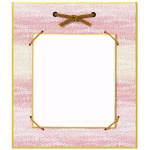 クラフト 副資材 お飾り用品 豆色紙掛けピンク桜柄 21×18cm|shugale1