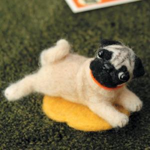 クラフト フェルト手芸 フェルト羊毛キット ハマナカ 羊毛フェルトでうちのこをつくろう パグ|shugale1