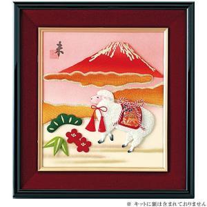 クラフト 和調手芸 ちりめんキット 五節供のお飾りもの 押絵 大色紙 赤富士|shugale1