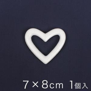 リース型(ハート)スチロール 7×8cm 1ヶ入り クラフト ハンドメイド タカギ繊維 パナミ スチロール スチボールの画像