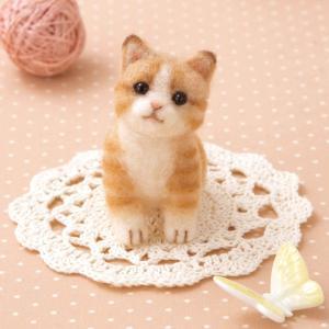 クラフト フェルト手芸 アクレーヌでつくる 茶トラの子猫 shugale1