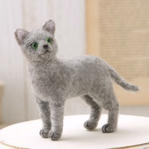 羊毛キット犬猫シリーズで人気の須佐沙知子先生デザイン。  【 サイズ(約) 】 高さ11.3cm(完...