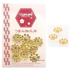 つまみ細工用 座金 C ゴールド 13mm 10個入 TP-30   装飾 飾り デコレーション ビーズキャップ shugale1