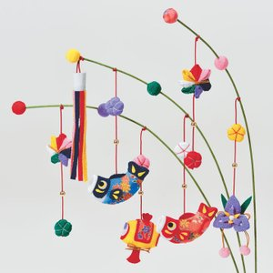 京ちりめん つり草飾りキット 端午の節句 にぎやかこいのぼり LH-154 | タカギ繊維 パナミ Panami ちりめん手芸 和調 和風 子供の日 こどもの日 飾り物|shugale1