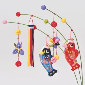 京ちりめん つり草飾りキット 端午の節句 のぼり鯉 LH-155 | タカギ繊維 パナミ Panami ちりめん手芸 和調 和風 子供の日 こどもの日 飾り物|shugale1