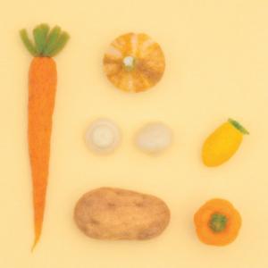 ハマナカ アクレーヌ キット ベジタブル 黄色の野菜 441-540 福田りお | アクレーヌキット アクレーヌベジタブル やさい リアル フェルティングキットの商品画像|ナビ