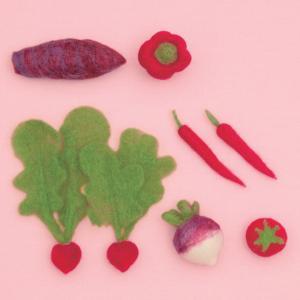 アクレーヌナチュラルミックスを使用した、リアルで可愛い手のひらサイズの野菜キットです。  【 サイズ...
