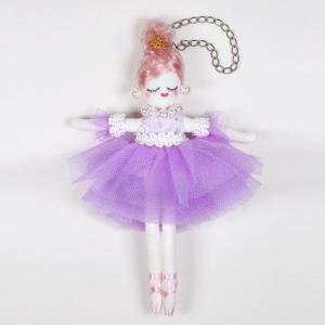 オリジナル ドールスターターセット バレリーナ リラ | 人形BODY入り ドールチャーム材料キット ドール スターター セット パープル 人形ボディ チャームドール