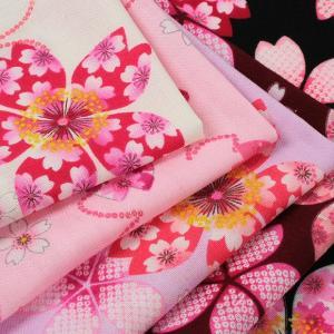 生地 綿布 花の詩 桜 スケア SO-2070-2 |甚平ドレス 女の子 ハンドメイド 1m単位の切売り 布 生地 浴衣 子供|期間限定SALE||shugale1