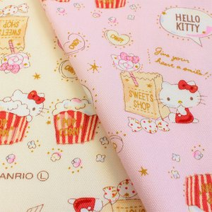 生地 綿布 サンリオ ハローキティ ハピネス 20オックス|巾着|ポーチ|入園|入学|オックス生地|女の子||shugale1