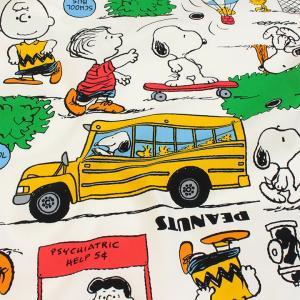 生地 綿布 スヌーピー パーク 20オックス 658311RO|巾着|ポーチ|入園|入学|オックス生地||shugale1