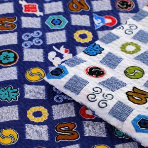 生地 綿布 サマーセレクト 祭り リップル 38045-12 A|じんべい|甚平|巾着|子供|キッズ|ベビー|男の子|夏|まつり|