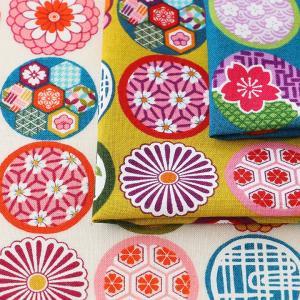 Colorful和Japan 和窓 スケアー|1m単位の切売り 生地 布 布地 和柄 和調 花柄 スケア 雑貨|shugale1
