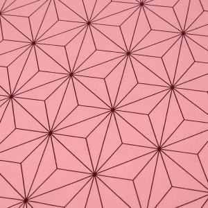 麻の葉 ブロード(1m単位)|切売り 切り売り 生地 布 布地 麻の葉模様 麻の葉 あさのは ピンク  ピンク地 桃 話題の和柄|shugale1
