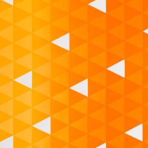 鱗柄 ブロード(1m単位)|切売り 切り売り 生地 布 布地 オレンジ イエロー 黄色 橙|shugale1