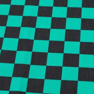 市松模様 小 ブロード  緑(1m単位)|切売り 切り売り 生地 布 布地 話題の和柄 小柄 小さい 小さ目|shugale1