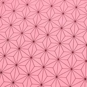 麻の葉模様 小 ブロード ピンク(1m単位)|切売り 切り売り 生地 布 布地 話題の和柄 小柄 小さい 小さ目|shugale1
