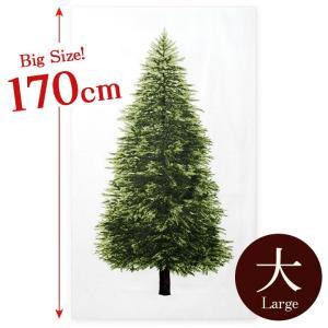 ツリータペストリー ビッグサイズ ウッド柄パネル オックス カットクロス|クリスマスツリー 北欧 壁...