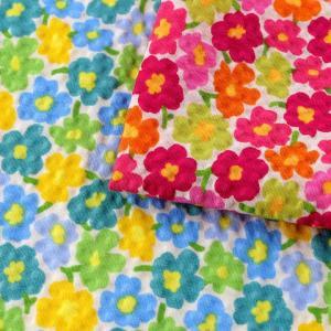 コットンこばやし 北欧調フラワーフィールド ポプリンリップル (1m単位)|切売り 生地 布 布地 綿 コットン 綿100 花柄 フラワー柄 フラワープリント|shugale1