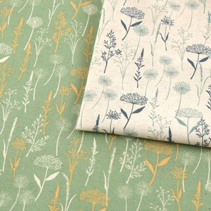 【当社限定】 mOmen-t florist 綿毛 綿麻シーチング (1m単位)|切売り 生地 布 布地 服地 花柄 フラワープリント トーカイ|shugale1