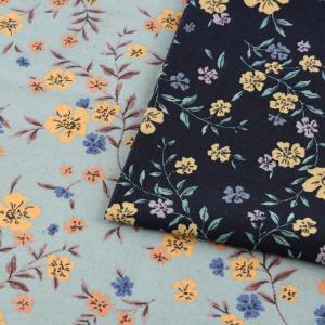 【当社限定】 mOmen-t florist 小花 綿麻シーチング (1m単位)|切売り 生地 布 布地 服地 花柄 フラワープリント トーカイ モーメントフローリスト|shugale1