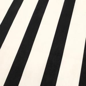 ストライプ 太 黒×白 ブロード(1m単位)|切売り 切り売り 生地 布 布地 ストライプ 黒 白 ブロード 綿 100 コットン 話題の和柄|shugale1
