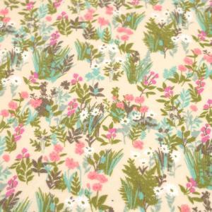 フラワーネル(1m単位)|切売り 切り売り 生地 布 布地 服地 ネルシャツ 花 花柄 フラワー フラワープリント|shugale1