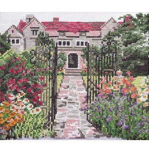 刺繍 キット オリムパス 尾上雅野 フレーム風景 英国庭園 shugale1