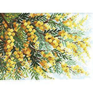 刺繍 キット オリムパス オノエ・メグミ 風に舞う華たち ミモザの咲く丘 shugale1