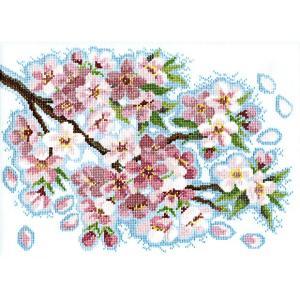 刺繍 キット オリムパス オノエ・メグミ 風に舞う華たち 桜堤のほとりで shugale1