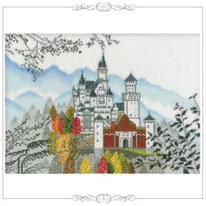 刺繍 キット オリムパス 越智通子 世界遺産と世界の風景から ドイツ ノイシュバンシュタイン shugale1