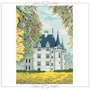 刺繍 キット オリムパス 越智通子 世界遺産と世界の風景から フランス アゼー・ル・リドー shugale1