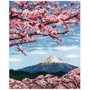 クロスステッチ 刺しゅうキット オリムパス 四季を彩る 日本の名所 桜と富士山 | 刺しゅう キット 刺繍 刺繍キット|期間限定SALE |