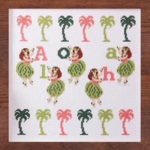 刺繍 キット COSMO aloha stitch フラガールズ shugale1