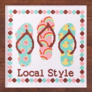 刺繍 キット COSMO aloha stitch ビーチサンダル shugale1